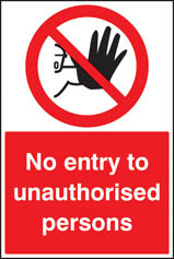 No entry to unauthorised persons floor graphic 400x600mm (58739)