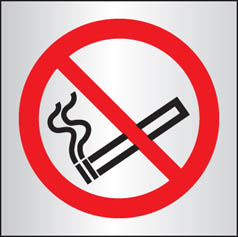 No smoking aluminium sign