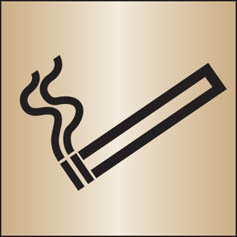 Smoking permitted Brass Sign