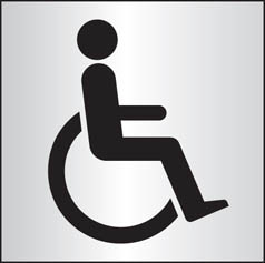 Disabled WC aluminium sign