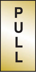 Pull Brass Sign