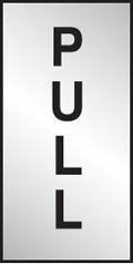 Aluminium Pull Sign 70x35mm