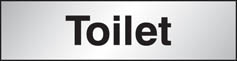 Aluminium Toilet Sign 140x35mm