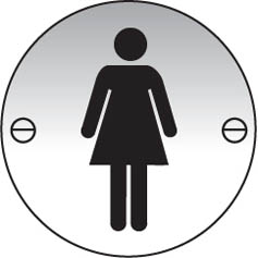 Ladies symbol aluminium sign
