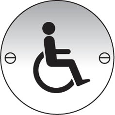 Disabled symbol aluminium sign