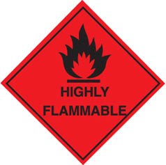 Hazard Label highly flammable (red)