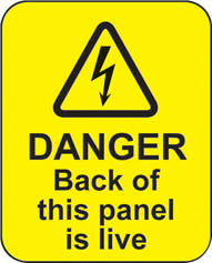 Danger Back Of This Panel Is Live (100 Stickers)