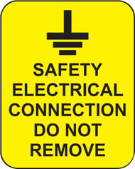 Safety Electrical Connection Do Not Remove (100 Stickers)