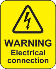 Warning Electrical Connection (100 Stickers)