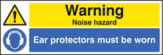 Warning noise hazard sign