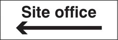 Site office arrow left Sign (6409)