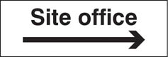 Site office arrow right Sign (6410)