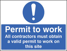 Permit to Work Sign