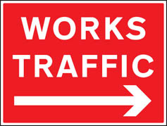 Works traffic right Sign (6426)