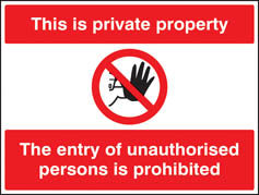This is private property No entry sign