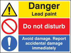 Danger Lead Paint Report Accidental Damage Immediately Sign