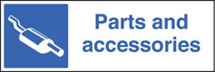 Parts & accessories sign