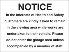 Notice in the interest of health sign