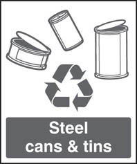 Steel Cans & Tins Sign