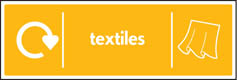 Textiles Recycling Signs