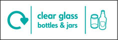 Clear Glass Bottles & Jars Signs