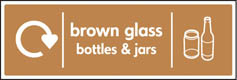 Brown Glass Bottles & Jars Recycling Signs