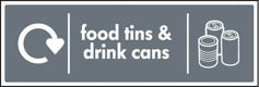 Food Tins & Drink Cans Recycling Signs