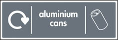Aluminium Can Recycling Signs