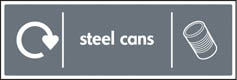 Steel Cans Recycling Signs