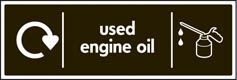 Used Engine Oil Recycling Signs