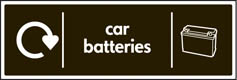 Car Batteries Recycling Signs
