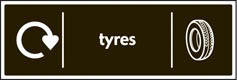 Tyres Recycling Signs