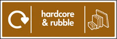 Hardcore & Rubble Recycling Sign