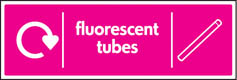 Fluorescent Tubes Recycling Signs