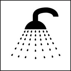 Shower Symbol Sign