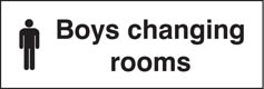 Boys Changing Rooms Sign