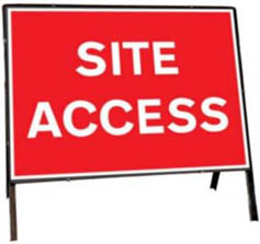 Site Access Temporary Road Sign 7301