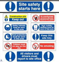 Value Site Safety Board (Correx)